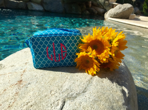 monogrammed make up bag