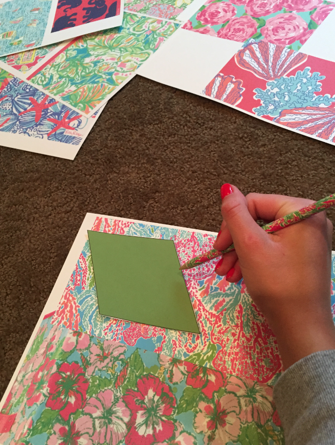 lilly pulitzer bulletin board cork board DIY