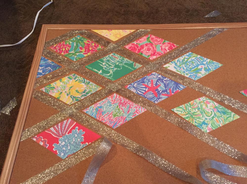 lilly pulitzer bulletin board cork board DIY