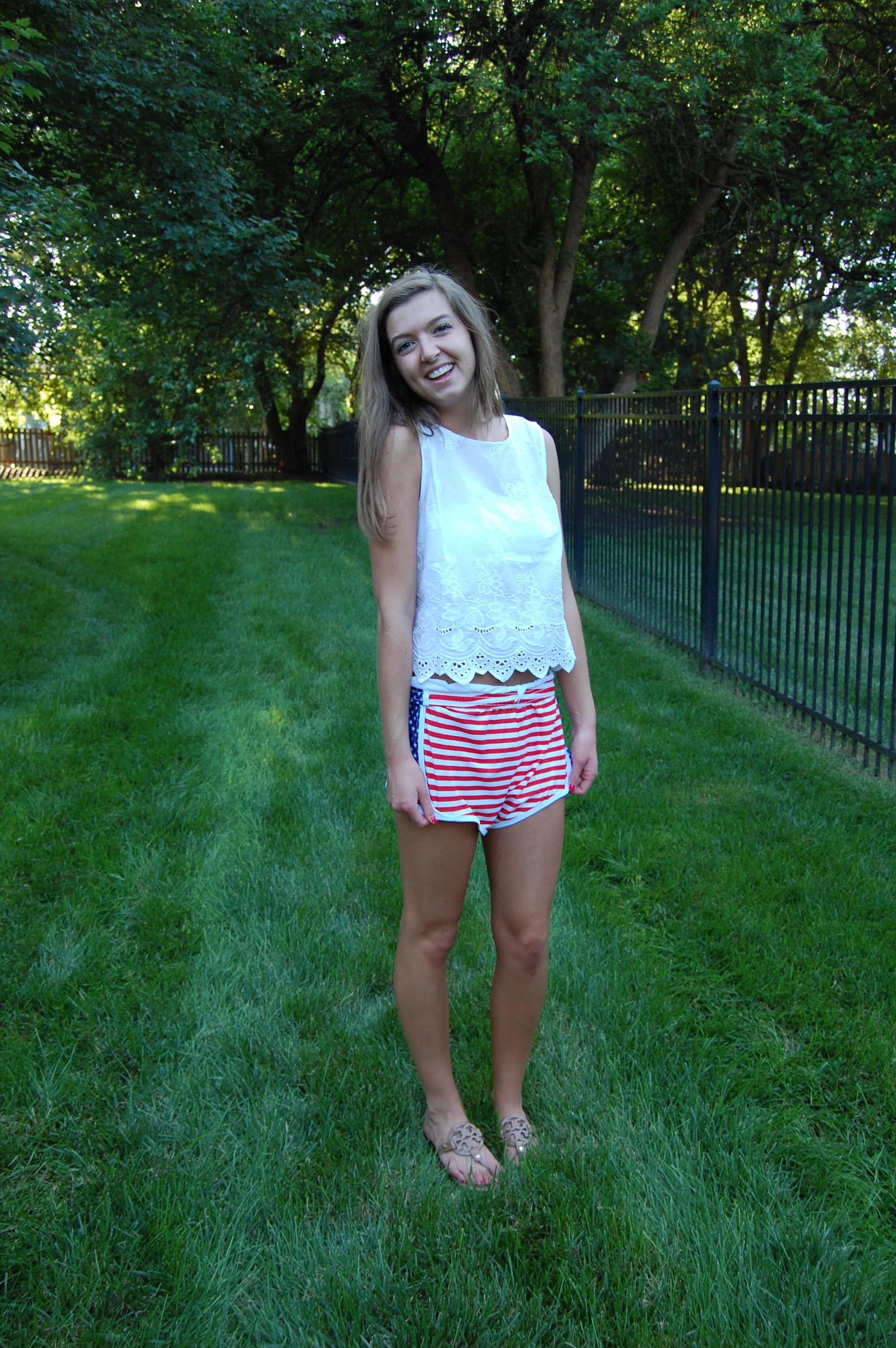 Krass & Co. Sam's red white and blue america shorts