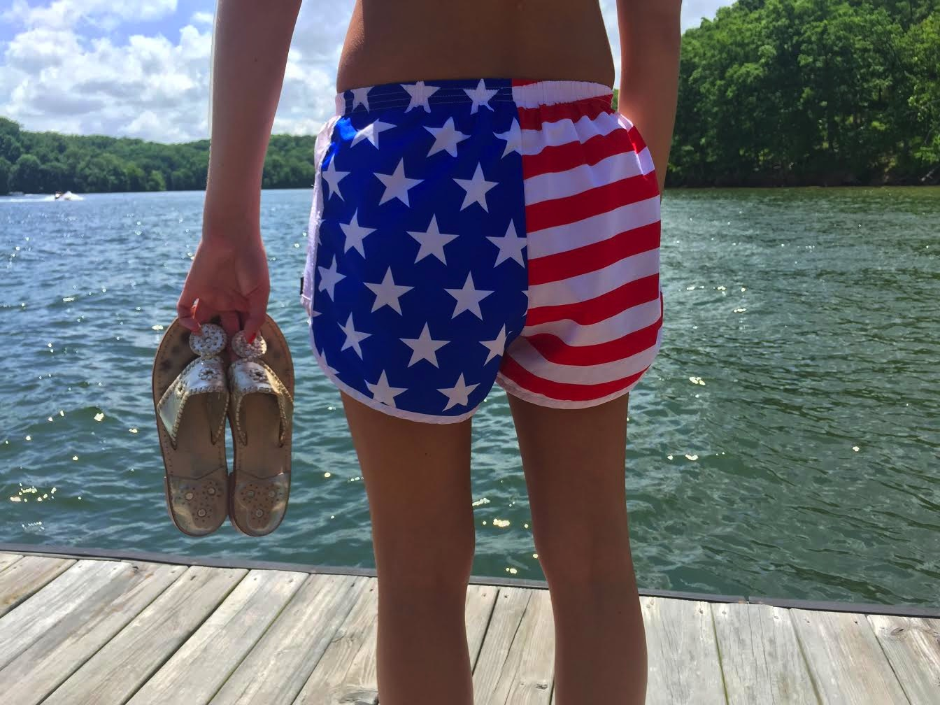 Memorial day weekend recap marley lilly american flag shorts jack roger shoes preppy