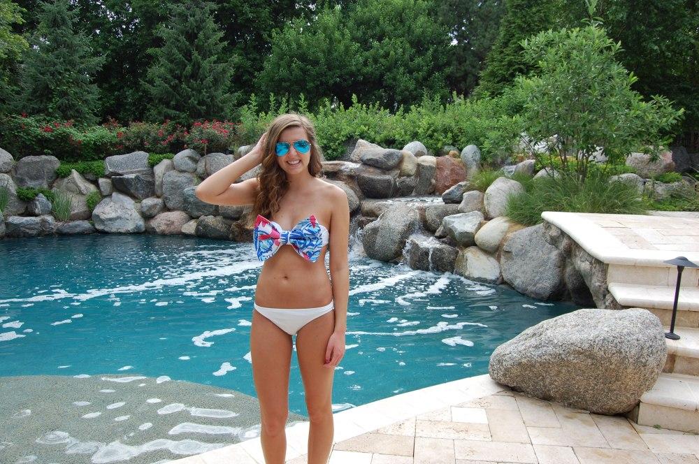 Blue Grass Grace Lilly Pulitzer Bikini Bow